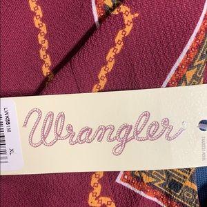 Wrangler Other - Wrangler Spaghetti Strap Romper Burgundy NWT